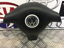 VW GOLF MK4 1.9 GT TDI (130) 2004 3 SPOKE STEERING WHEEL AIRBAG 3B0880201 BK