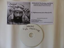 CDr single Promo DERAJAH & The Donkey Jaw Bone Righteousness just a flow