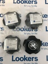 NEW GENUINE VAUXHALL ASTRA VXR BLACK ALLOY WHEEL CENTER CAPS 13306794 X4 SET