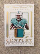 2015 NATIONAL TREASURES CENTURY MATERIALS LAMAR MILLER 4CLR PATCH #D /10 DOLPHIN