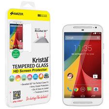 AMZER Tempered Glass HD Screen Guard Protector For Motorola Moto G2 G 2nd Gen