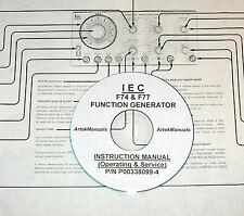 INTERSTATE ELECTRONICS F74 / F77 FUNCTION GENERATOR MANUAL (OPERATING & SERVICE)