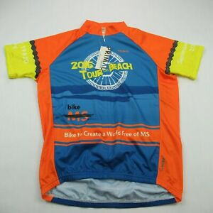 Cycling Jersey Mens Medium Blue Short Sleeve 3/4 Zipper Primal NWT Leisure