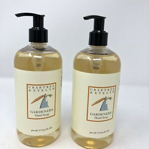 Crabtree & Evelyn Gardener's Hand Soap 16.9 fl oz ea Pump Discontinued Lot 2 NEW