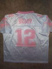 REEBOK New England Patriots TOM BRADY nfl PINK Jersey Youth *GIRLS* (xl-16)