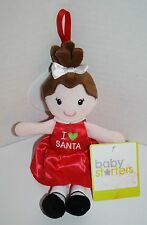 "Baby Starters I Love Santa DOLL 9"" Red Heart Plush Stuffed Soft Toy 2014"
