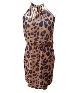 Warehouse Leopard Animal Print Dress  Size 10