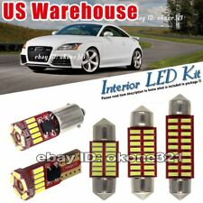 5-pc  Pure White LED Light Interior Package Lamp Kit Fit 07-15 Audi TT TTS 8J
