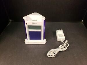 iHome iH4U Alarm Clock Speaker Dock For Iphone Ipod White Blue Tested Works