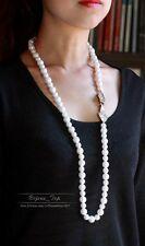 Collier Sautoir Long Chaine Perle Art Deco Doré Leger Retro Class Original MYL 1