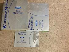 2005 FORD MUSTANG Gt Cobra Mach Service Shop Repair Manual SET W EWD + Towing