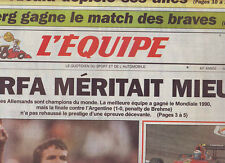 journal  l'equipe 27/06/96 FOOTBALL EURO 96 FRANCE REP.TCHEQUE RFA ANGLETERRE