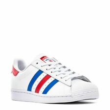 ADIDAS ORIGINAL SUPERSTAR VS AMERICANA SHELL MEN SHOES WHITE/BLUE SIZE 11 NEW