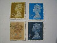Great Britain Stamps Queen Elizabeth II-QE II- lot de timbres