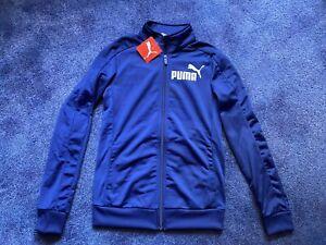 Women's Puma Blue Track Jacket UK Size 8 NEW!