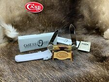 1997 Case Mint Set Canoe Knife Red Stag Scrolled Bolsters Mint - SN#101- 24C