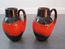 Paire de West German 60 S Lava vases-Scheurich keramic