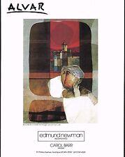 1970's Vintage Alvar Interieur Et Fenetre Art Edmund Newman Gallery Print Ad
