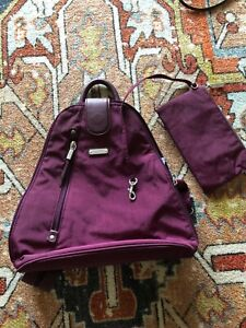 Baggallini Purple Nylon Convertible Sling Backpack Medium Excellent Condition