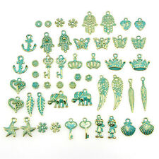 Wholesale Retro 50pcs Bulk Lots Mix Classic Charm Pendants Jewelry DIY Hot 3C