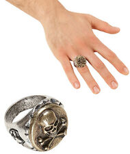 Piraten Totenkopf Ring gold-silber NEU - Zubehör Accessoire Karneval Fasching