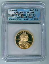 2007 07 S Sacagawea Gold Dollar $1 ICG Graded PR70DCAM