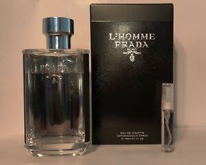 Prada L'homme Eau De Toilette EDT 5ml Sample, travel size for men cologne