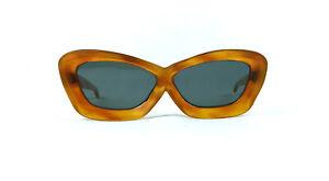 Amber Party 50s Vintage Cat Eye Sunglasses 1950s France Genuine Frame NOS