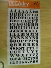 1 x Decadry Rub-on Black Letters  Transfer No 28 (34 pt 0.315 inch 8 mm)