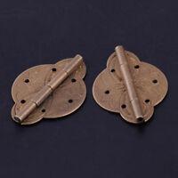 2pcs Vintage Brass Hinges for Door Furniture Cabinet Cupboard with Screws