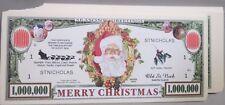 WHOLESALE LOT OF 100 MERRY CHRISTMAS SANTA MILLION DOLLAR USA NOVELTY FAKE MONEY