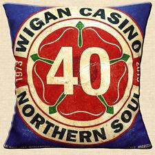 "Wigan CASINO quarant' anni 16 ""x16"" 40 CM Cuscino Northern Soul Music 1973-2013"