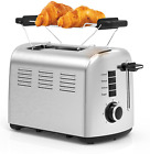 Stainless Steel Wide Slot Toaster 2 Slice for Bagel, 7 Shades With Warming Rack photo