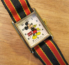 Vintage Bradley Mickey Mouse Watch With Original Band
