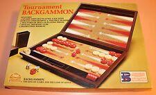 VINTAGE Tournament Backgammon Game Milton Bradley Complete E.S. Lowe 1976 + Book