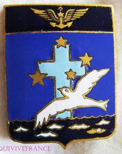 IN16159 - INSIGNE Flottille 7 F - 27 F, émail, 6 vagues, croix bleu clair