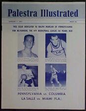 JANUARY 7, 1961 PALESTRA ILLUSTRATED NCAA BASKETBALL PROGRAM! BIG 5