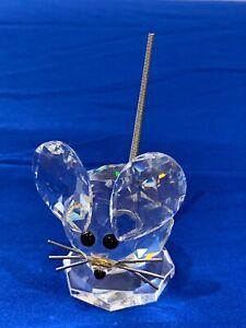 NIB RARE 1976 First Figurine Silver Crystal SWAROVSKI Original Mouse 7631030000