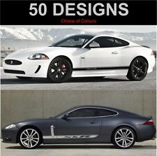 Jaguar XK XKR XKRS Side Stripe Decals Stickers Both Sides