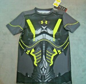 NWT Under Armour Boy's YLG UA Performance Fitted Heatgear Graphic Shirt