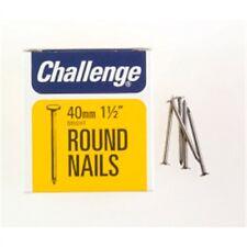 Challenge Round Wire Nails - Bright Steel (box Pack), 40mm