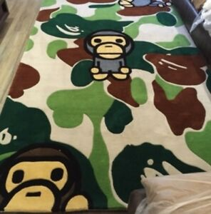 New Bape Ape Area Rugs Carpet Floor door Mat Decor Large Heavy Living Room big