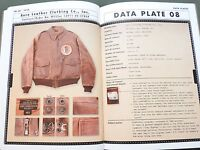 "SIGNED, NUMBERED EASTMAN ""TYPE A-2 FLIGHT JACKET"" US AAF WW2 REFERENCE BOOK #305"