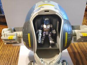 Hasbro Playskool Star Wars Galactic Heroes JANGO FETT'S SLAVE 1 W Jango