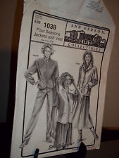 Ann Person # 1038 Sewing Pattern Four Seasons Jackets Vest Uncut Factory Folded