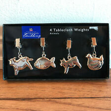 New Tablecloth Weights - Set of 4 - Cow, Pig, Chicken, Fish