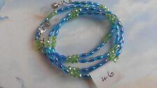 "26"" acrylic seed beads/Sworovski crystal beaded cord for sunglasses 46"