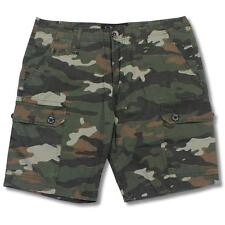 Oakley War Chest Jungle Camo 36 XL Mens Green Cargo Casual Shorts Walkshorts