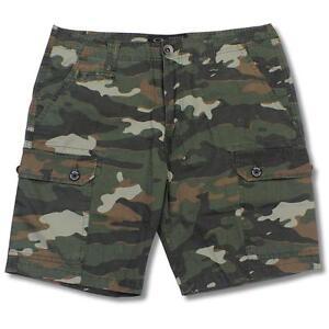 Oakley War Chest Jungle Camo Size 32 M Mens Green Cargo Casual Shorts Walkshorts