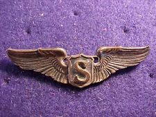 "ORIGINAL WWII USAAF SCARCE THICK STERLING SERVICE PILOT 3"" WINGS"
